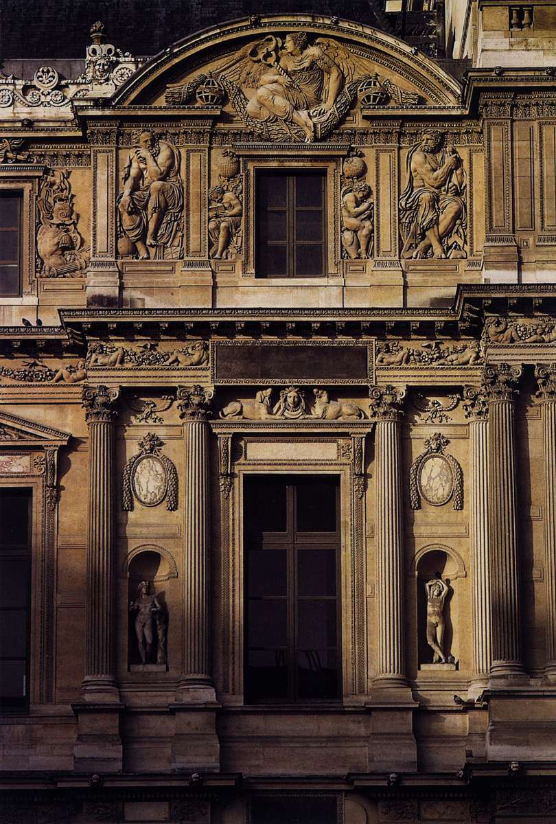 Façade of the Louvre