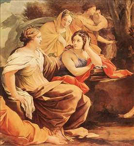 Parnassus or Apollo and the Muses