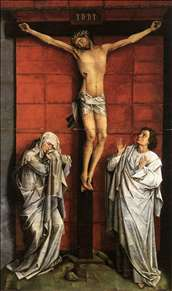 Christus on the Cross with Mary and St John