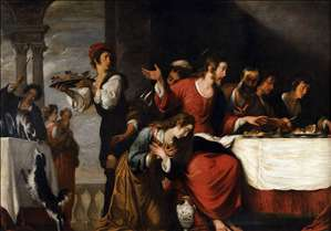 Banquet at the House of Simon (detail)