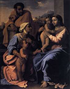 The Holy Family with St Elizabeth and John the Baptist