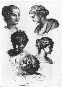 Five Female Heads