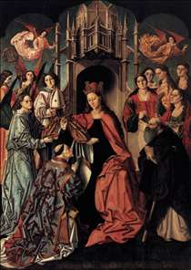 The Blessing of the Chasuble to St Ildefonso