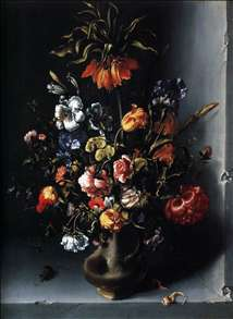 Still-Life of Flowers with a Fritillary in a Stone Niche