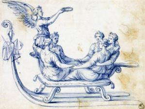 Sketch for a Sleigh with an Allegory of Victory