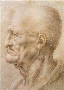 Profile of an old man