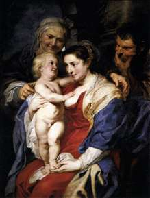 The Holy Family with St Anne
