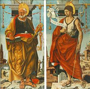 Griffoni Polyptych: St Peter and St John the Baptist