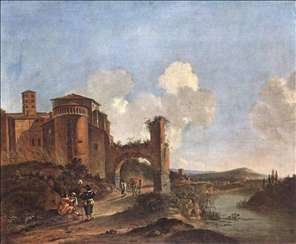 Italian Landscape with SS. Giovanni e Paolo in Rome