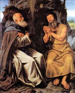 St Anthony Abbot and St Paul