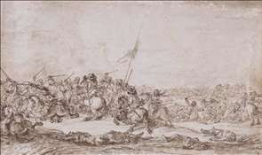 Battle Scene with Raised Standard