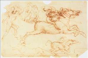 Galloping Rider and other figures