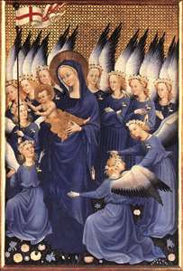 Wilton Diptych: Virgin and Child with Angels