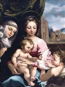 Madonna and Child with the Infant St John the Baptist and St Catherine of Siena