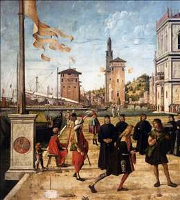The Ambassadors Return to the English Court (detail)