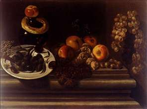 Still-Life of Fruit and a Plate of Olives