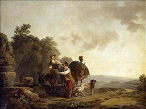 Travellers at a Well