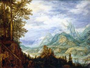 Mountainous Landscape with a Castle
