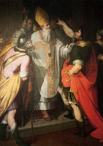 St Ambrose Stopping Theodosius