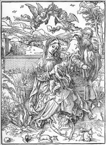 Holy Family with Three Hares