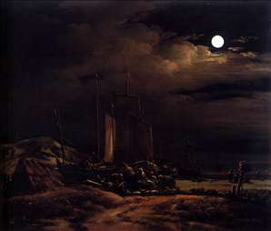 Seashore by Moonlight