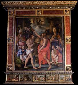 Baptism of Christ with Saints