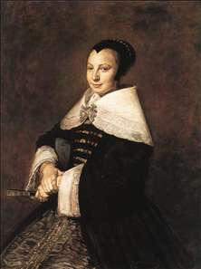 Portrait of a Seated Woman Holding a Fn