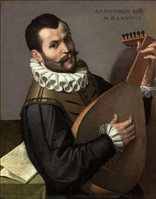 Portrait of a Man Playing a Lute