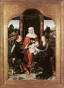 St Anne with the Virgin and Child and St Joachim