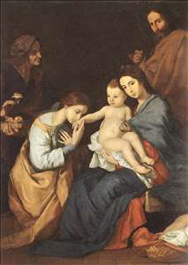 The Holy Family with St Catherine