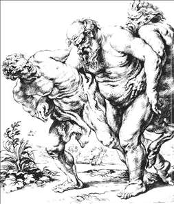Silenus (or Bacchus) and Satyrs