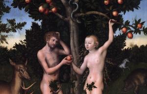 Adam and Eve (detail)