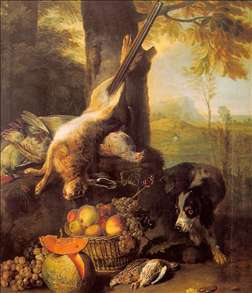 Still-Life with Dead Hare and Fruit