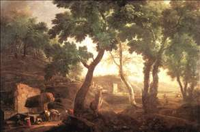 Landscape with Watering Horses