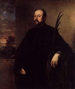 Portrait of a Man with a Palm