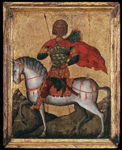 St Menas of Egypt on Horseback