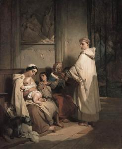 Monk Feeding the Poor