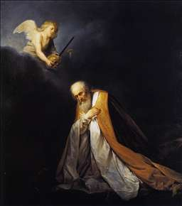 King David in Prayer