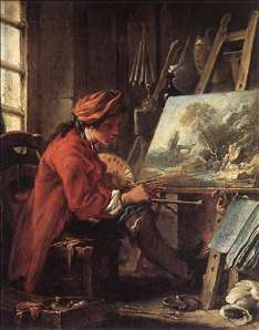 Painter in his Studio