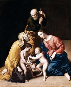 Holy Family with the Infant St John the Baptist and St Elizabeth