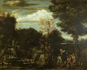 Landscape with a Devotional Image