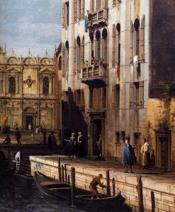 Rio dei Mendicanti with the Scuola di San Marco (detail)