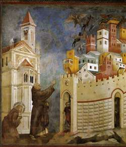 Legend of St Francis: 10. Exorcism of the Demons at Arezzo