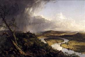 View from Mount Holyoke, Northamptom, Massachusetts, after a Thunderstorm (The Oxbow)