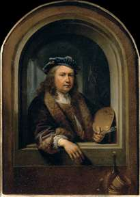 Self-Portrait with a Palette, in a Niche