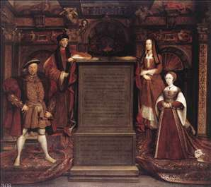 Henry VII, Elizabeth of York, Henry VIII, and Jane Seymour