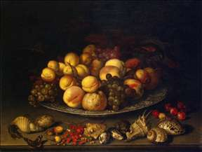 Plate with Fruits and Shells