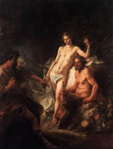 The Judgment of King Midas between Apollo and Marsyas