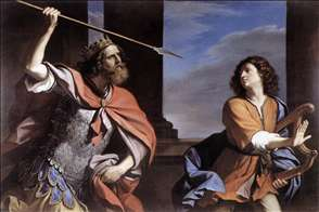 Saul Attacking David