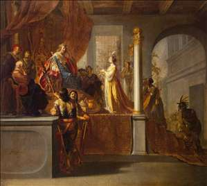 Queen of Sheba before Solomon